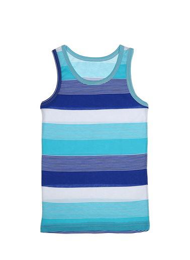 Donella Karışık Renkli Çizgili Erkek Çocuk Atlet Mavi